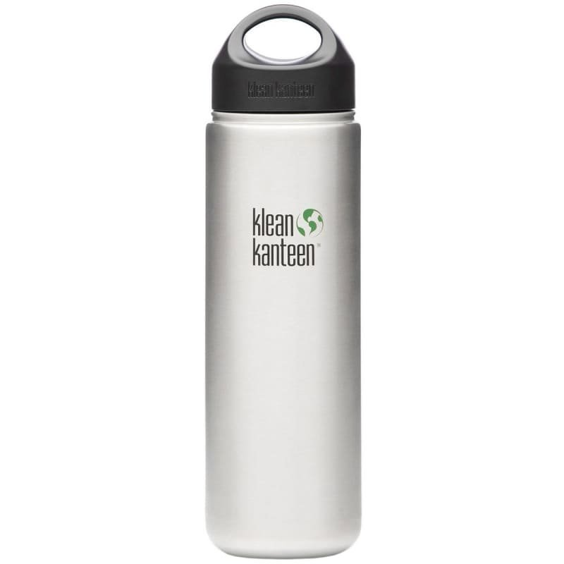 Klean Kanteen 800ml Kanteen Wide 18/8 Loop Cap Brusted Steel