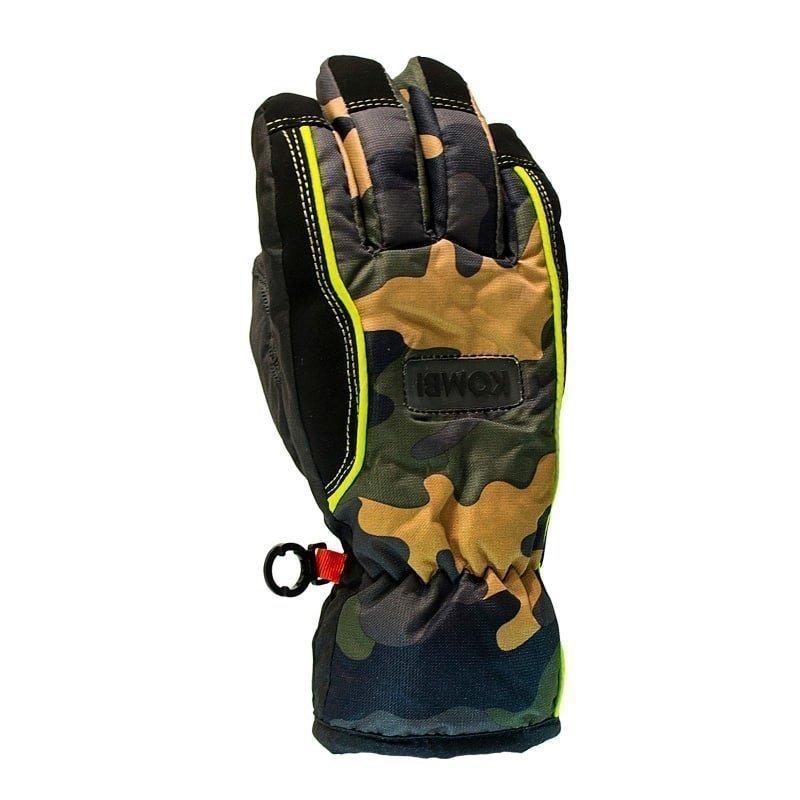 Kombi Striker Glove Wp Junior L Green Camo/Lime