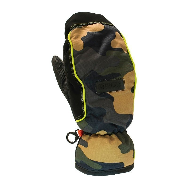 Kombi Striker Mitt Wp Junior L Green Camo/Lime
