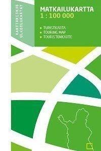 Kuusamo 1:100 000 matkailukartta 2009 taitettu