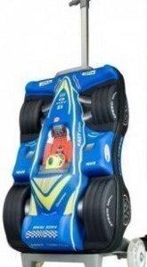 Lasten matkalaukku kilpa-auto