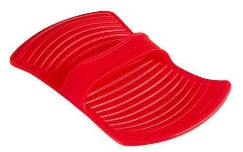 Lekuen muotoiltu silikonipatalappu punainen