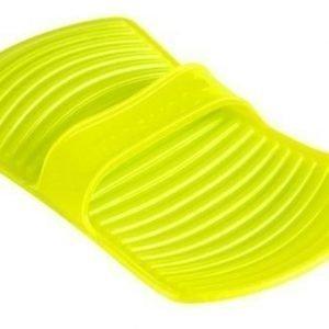 Lekuen muotoiltu silikonipatalappu vihreä