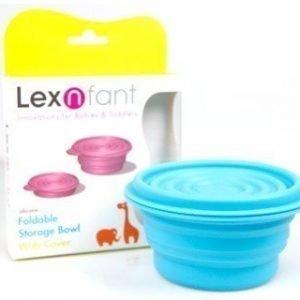 LexnFant kokoontaittuva silikonikulho kannella