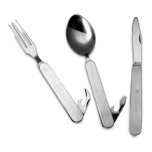 Lifeventure Stainless Steel Folding Cutlery