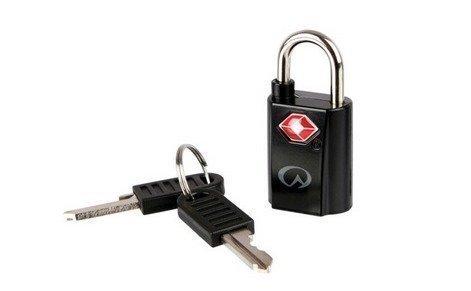 Lifeventure TSA mini padlocks minilukko avaimella musta