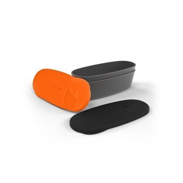 Light My Fire SnapBox 2-pack ovaali Oranssi+Musta