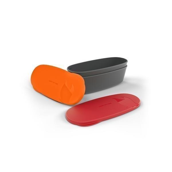 Light My Fire SnapBox 2-pack ovaali punainen+oranssi