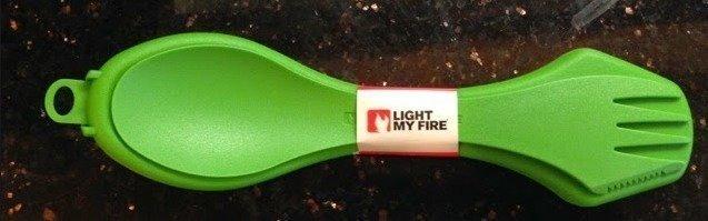 Light My Fire SporkCase lusikkakotelo vaalean vihreä