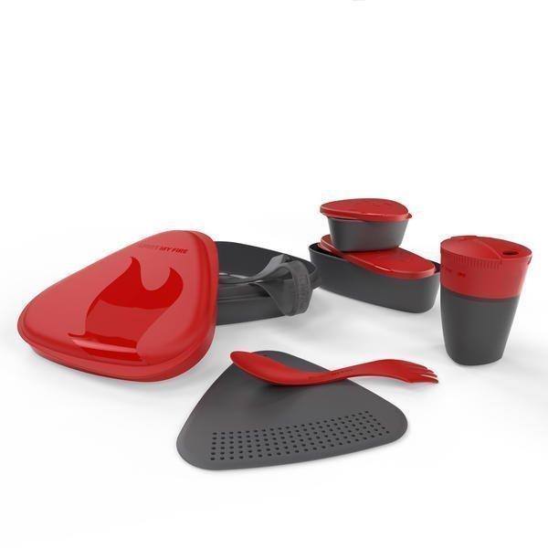 Light My Fire matka-astiasarja kupeilla punainen