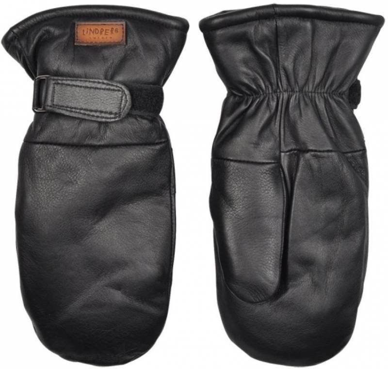 Lindberg Moose Leather Mitten Musta 10