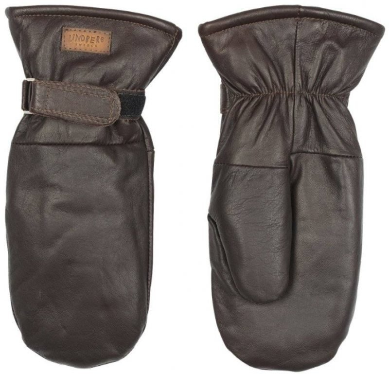 Lindberg Moose Leather Mitten Ruskea 8