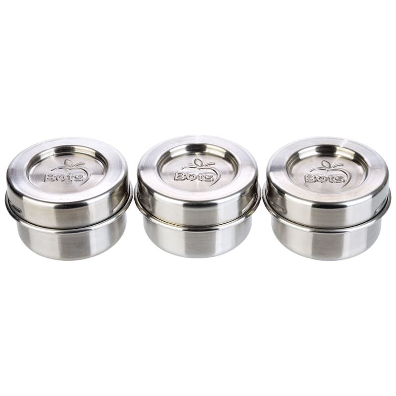 Lunchbots Dips Condiment Containers Set 40 Stainless Steel