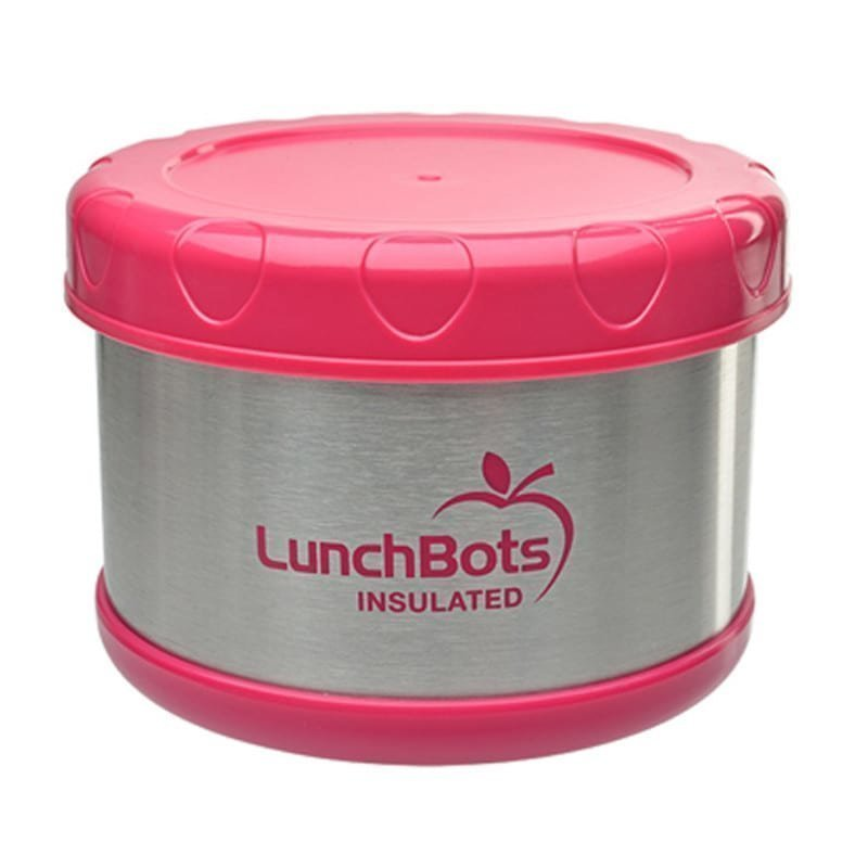 Lunchbots Insulated Food Container Blue 4 Pink