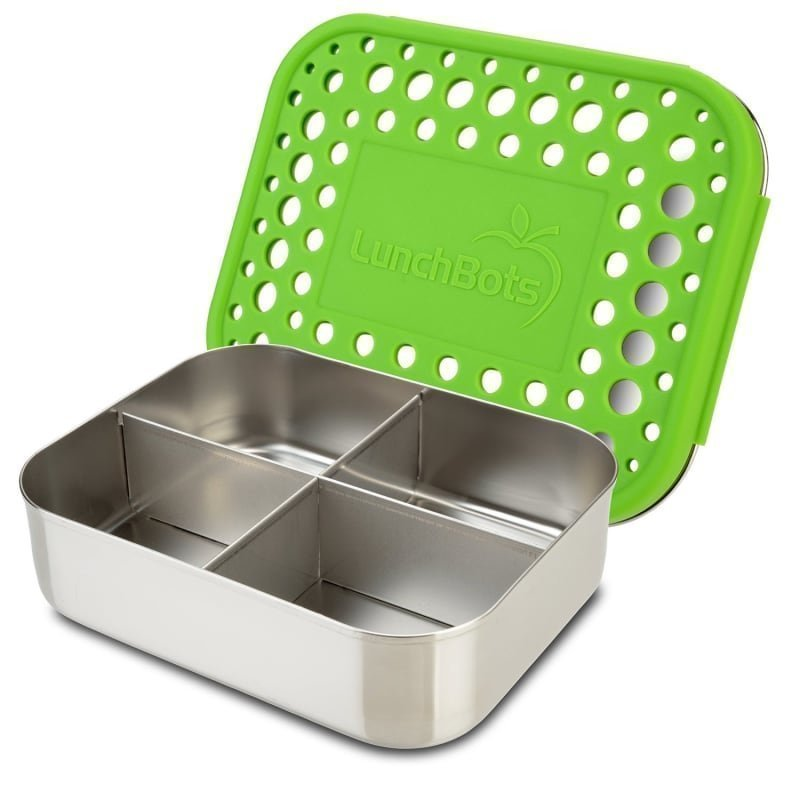 Lunchbots Quad Green Dots 600 Green