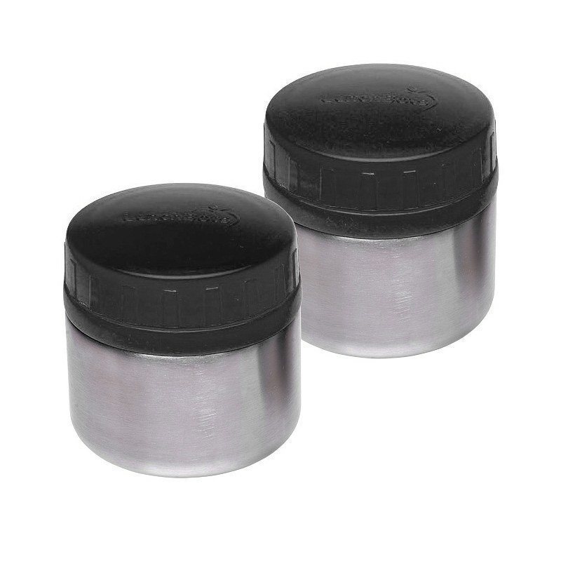 Lunchbots Rounds 8oz. Black 2 Stainless Steel