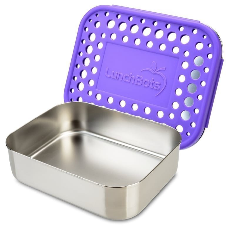 Lunchbots Uno Purple Dots 600 Purple