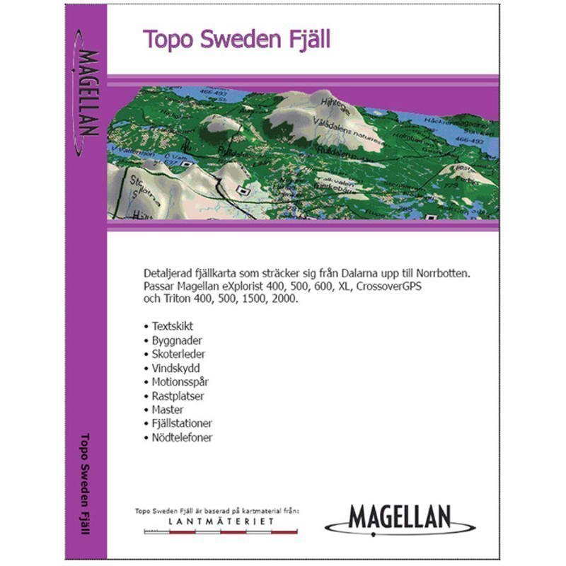 Magellan Topo Sweden Fjäll