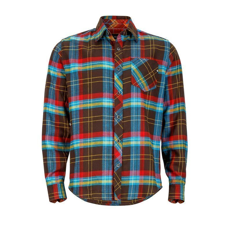 Marmot Anderson Flannel LS L Rich Brown