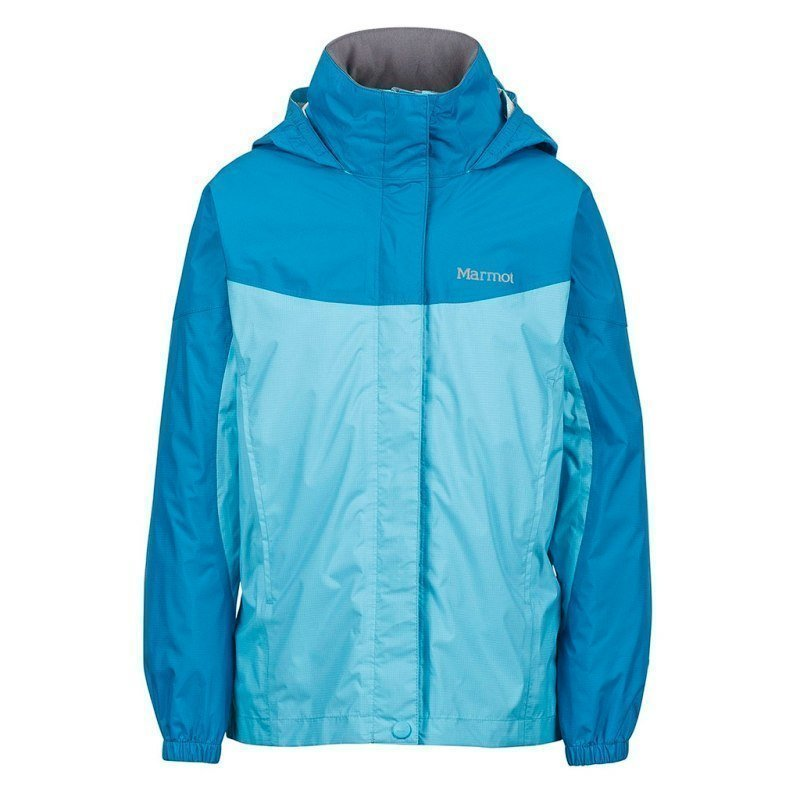 Marmot Girl's PreCip Jacket M LIGHT AUQA/AQUA BLUE
