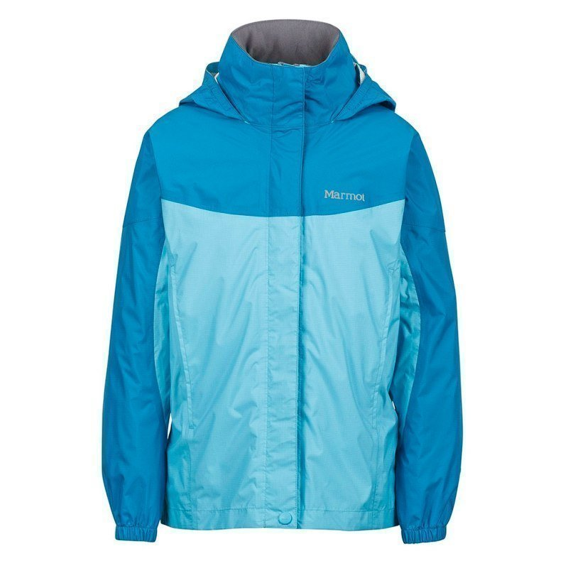 Marmot Girl's PreCip Jacket S LIGHT AUQA/AQUA BLUE