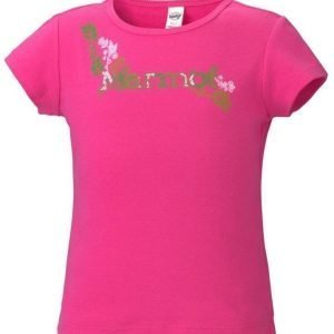 Marmot Girl's Whimsy Tee Shirt Pinkki XL