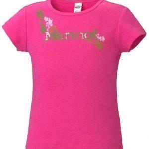 Marmot Girl's Whimsy Tee Shirt Pinkki XS