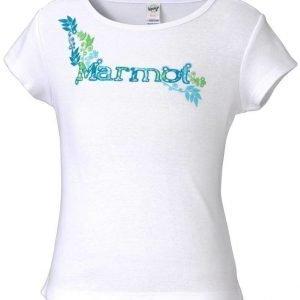 Marmot Girl's Whimsy Tee Shirt Valkoinen S