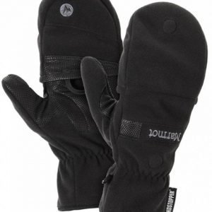 Marmot Windstopper Convertible Glove Musta L