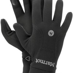 Marmot Women's Powerstretch Glove Musta L