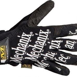 Mechanix Original Glove mustat valkoisella tekstillä