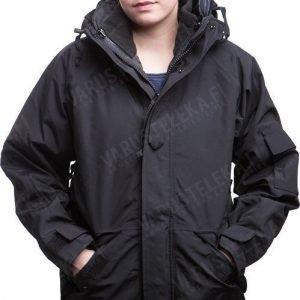 Mil-Tec ECWCS-takki irroitettavalla fleece-vuorilla musta tyttökuvalla