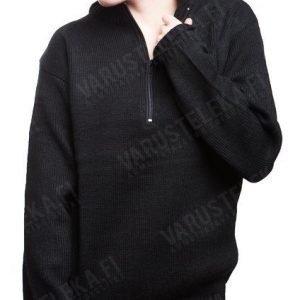 Mil-Tec Sveitsineulepaita vetoketjulla akryyliä musta tyttökuvalla