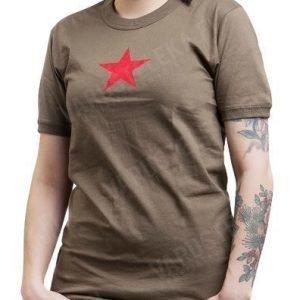 Mil-Tec T-paita punatähdellä oliivinvihreä tyttökuvalla