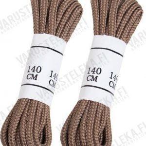 Mil-Tec kengännauhat polyester kaksi paria kojootinruskeat