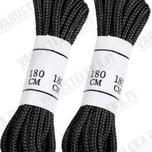 Mil-Tec kengännauhat polyester kaksi paria mustat