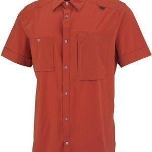 Millet Pockhara Stretch SS Shirt Tummanpunainen L