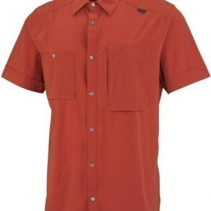 Millet Pockhara Stretch SS Shirt Tummanpunainen M