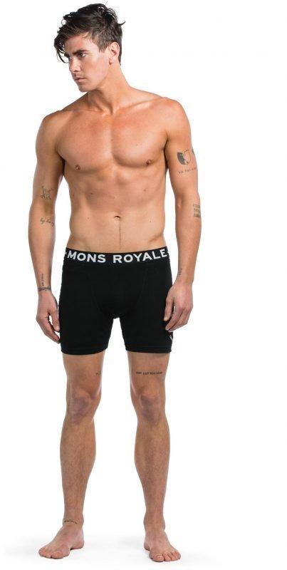 Mons Royale Hold'em Boxer Musta M