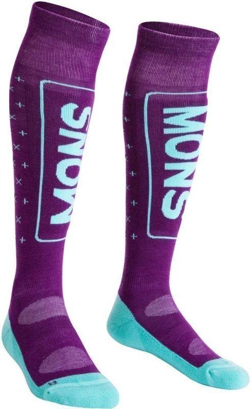 Mons Royale Snow Tech Sock Women's Tummanpunainen L