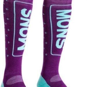 Mons Royale Snow Tech Sock Women's Tummanpunainen M