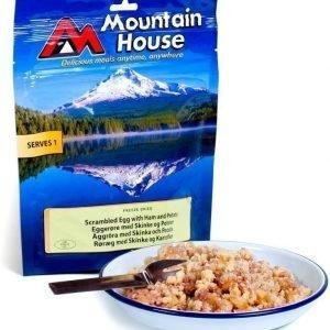 Mountain House Munakokkelia savukinkkua ja paistettua perunaa