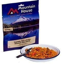 Mountain House tikka-kasviksia riisillä