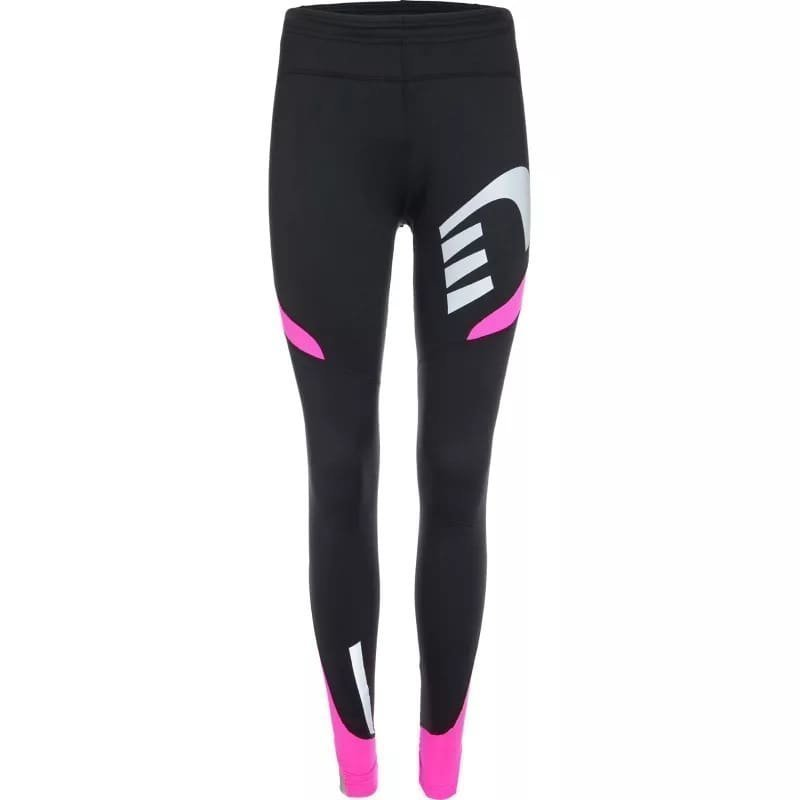 Newline Visio Warm Tights L Black/Fluo Pink