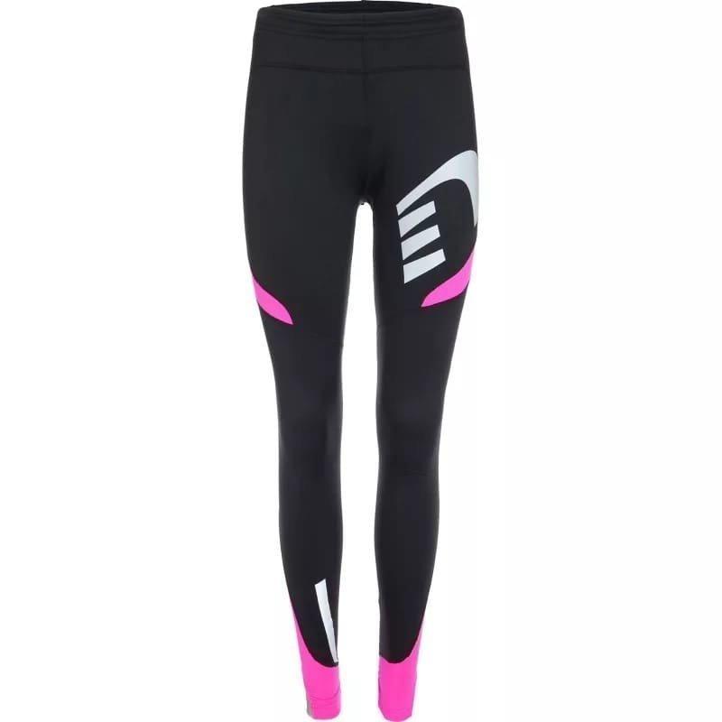 Newline Visio Warm Tights S Black/Fluo Pink