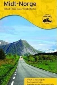 Norja tiekartta Keski-Norja 2014