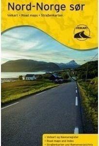 Norja tiekartta Pohjois-Norja / Eteläinen osa 2014