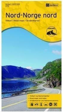 Norja tiekartta Pohjois-Norja / Pohjoinen osa 2014
