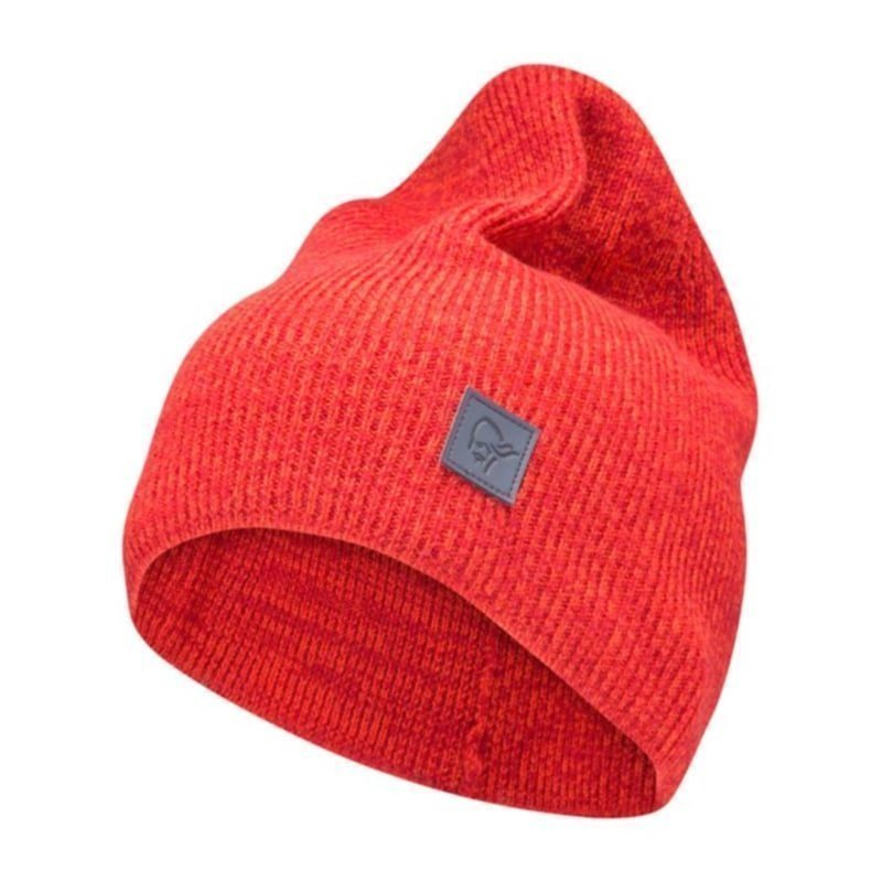 Norrøna /29 thin marl knit Beanie ONE SIZE Jester Red
