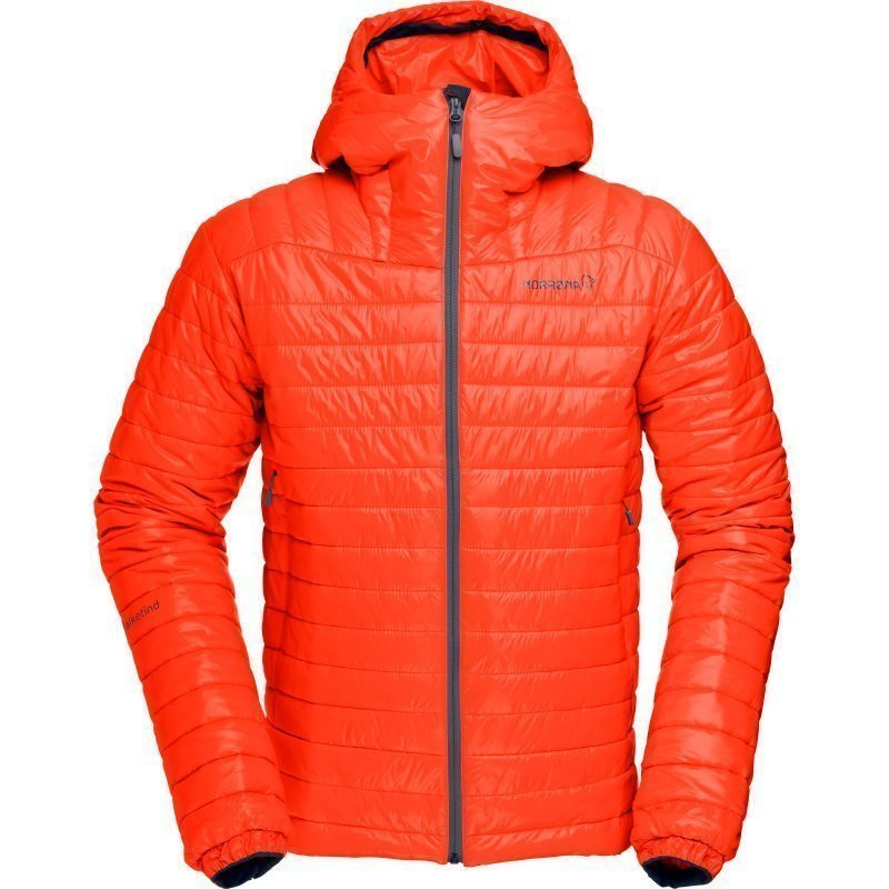 Norrøna Falketind PrimaLoft100 Hood Jacket Men's L Hot Chili